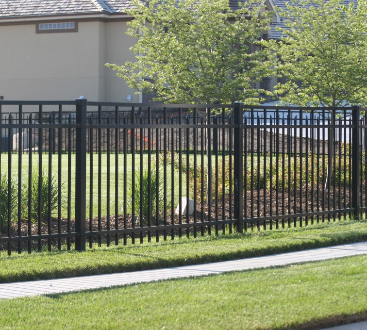 AFC Sioux City - Residential ornamental flat top fence
