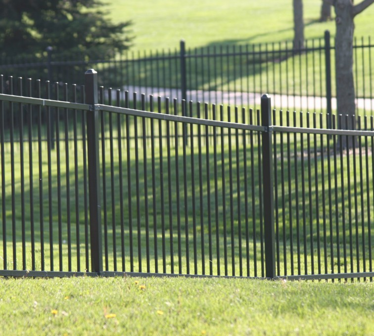 AFC Sioux City - Alternating Picket ornamental iron fence