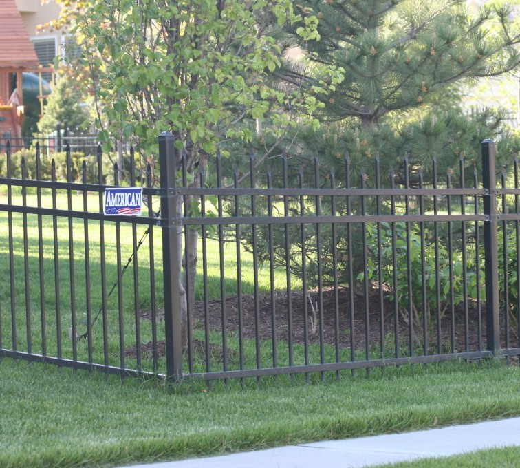 AFC Sioux City - Black spear top ornamental fencing with spear top