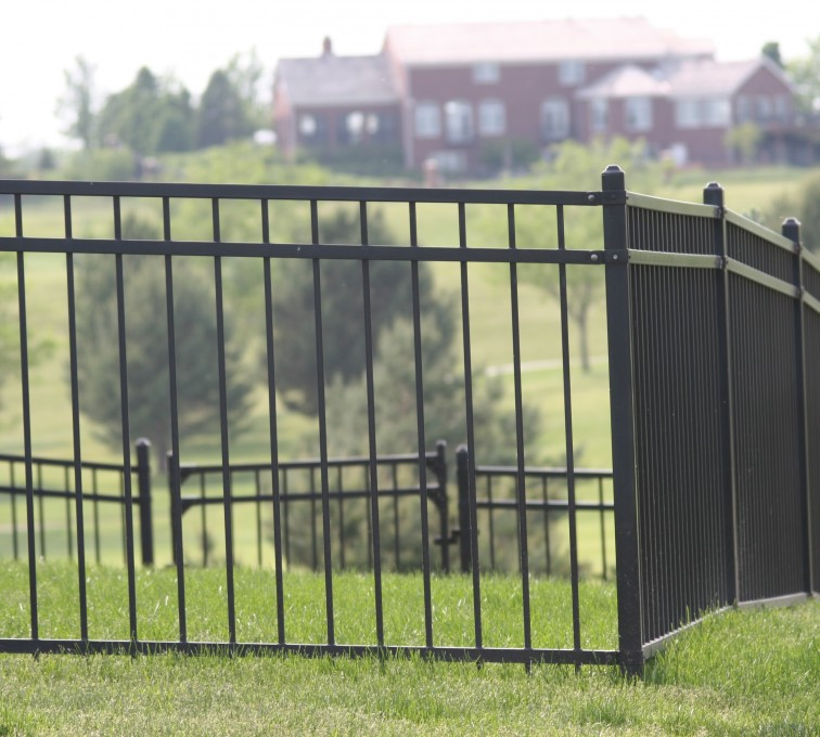 AFC Sioux City - Ornamental flat top fencing with 3 rails