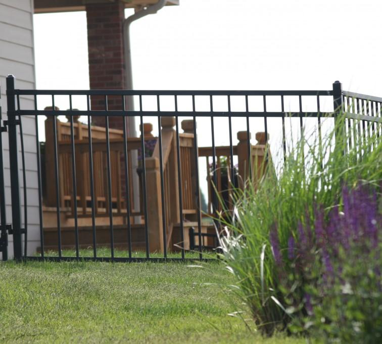 AFC Sioux City - 5' flat top ornamental fencing