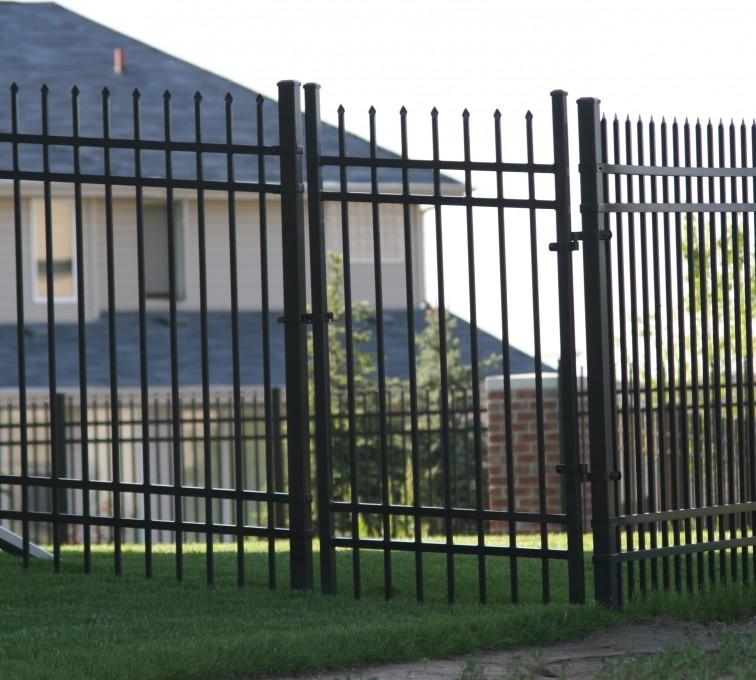 AFC Sioux City - Four rail spear top ornamental fencing