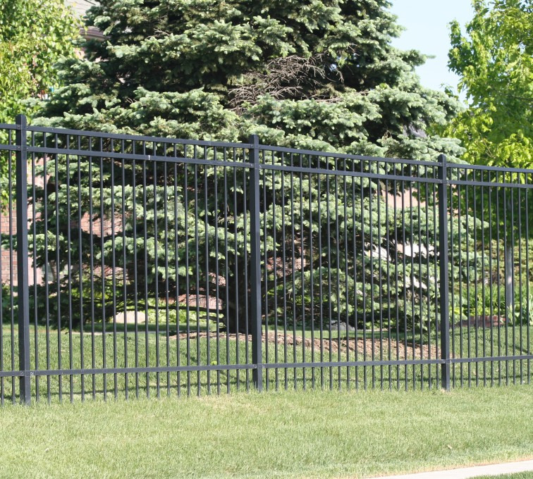 AFC Sioux City - 6' Flat Top ornamental iron fencing