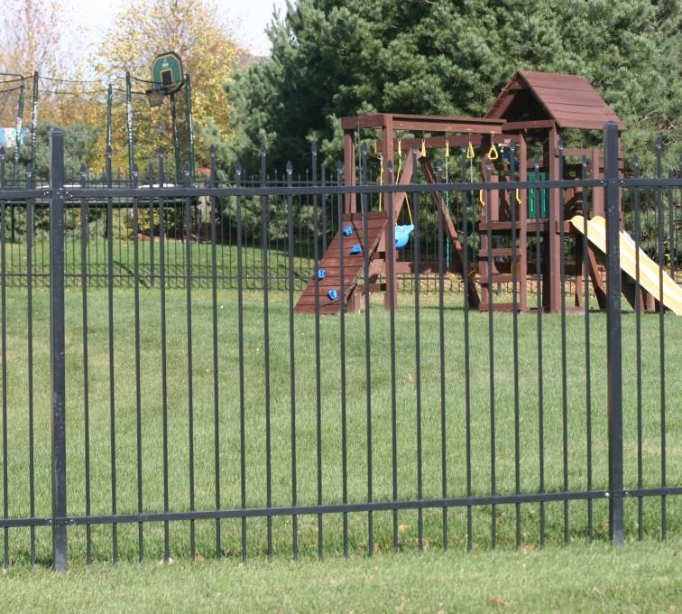 AFC Sioux City - 6' Two rail black ornamental fence