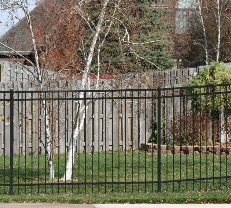 AFC Sioux City - 3 Rail Flat Top 6' Ornamental Fence