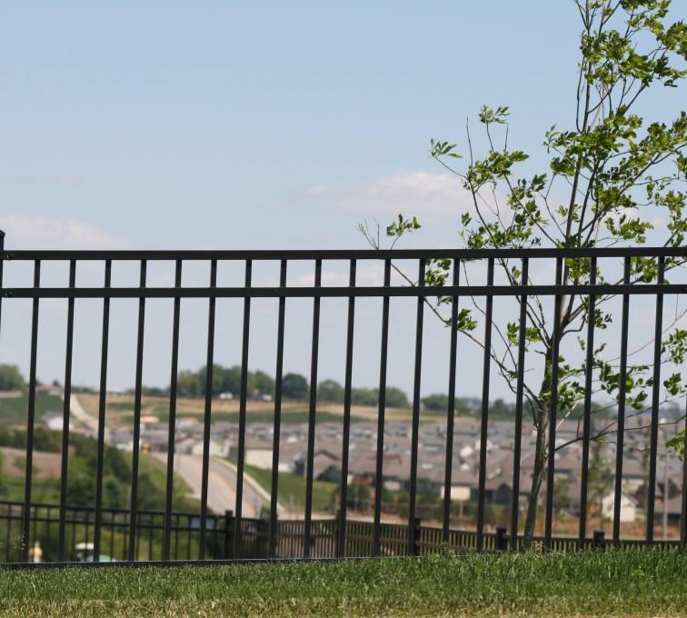 AFC Sioux City - Ornamental flat top fencing black