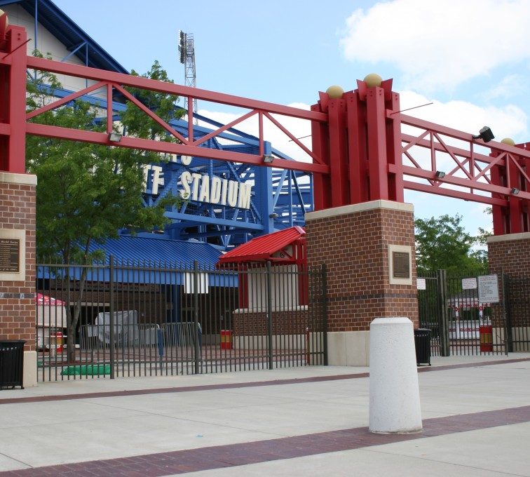 AFC Sioux City - Classic Bronze Ornamental Fence Rosenblatt Stadium