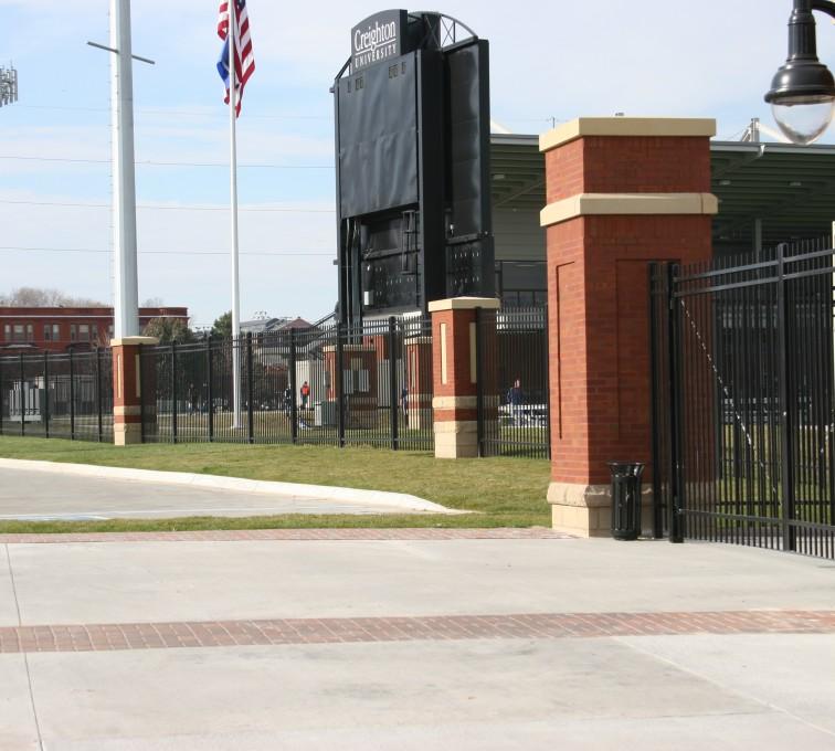 AFC Sioux City - Black Flat Top Ornamental Iron Fence Creighton Soccer Fields