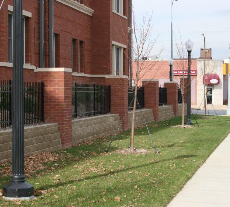 AFC Sioux City - Creighton Student Housing Black Ornamental Iron Fence