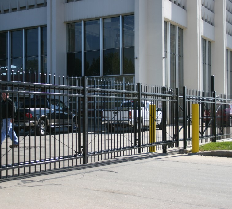 AFC Sioux City - Spear Top Ornamental Cantilever Gate