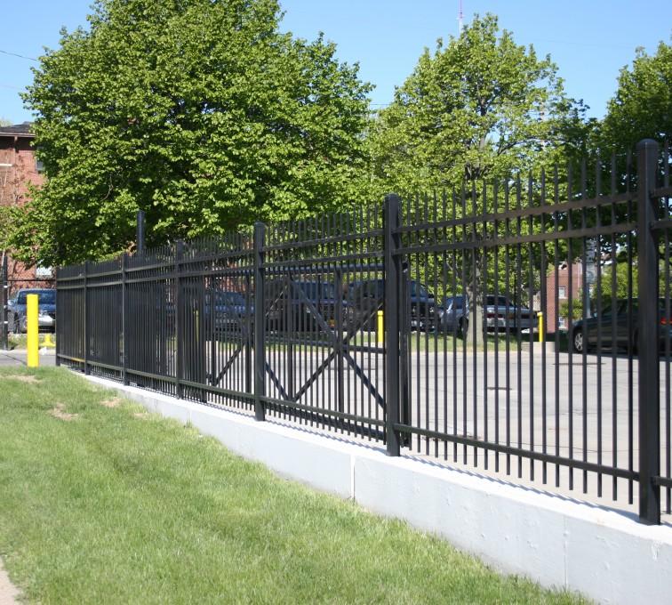 AFC Sioux City - Black Ornamental Cantilever Gate