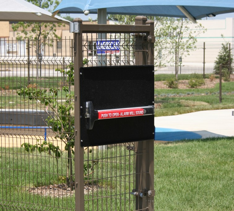 AFC Sioux City - Wire mesh fencing and gate with panic bar