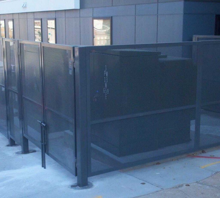 AFC Sioux City - Woven wire dumpster enclosure