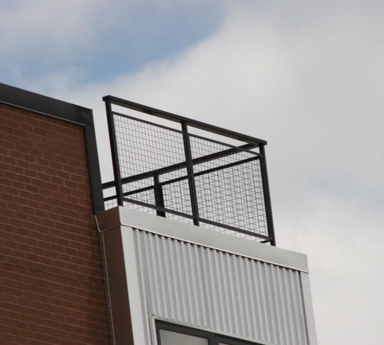 AFC Sioux City - Custom Ornamental Iron Railing with mesh infill