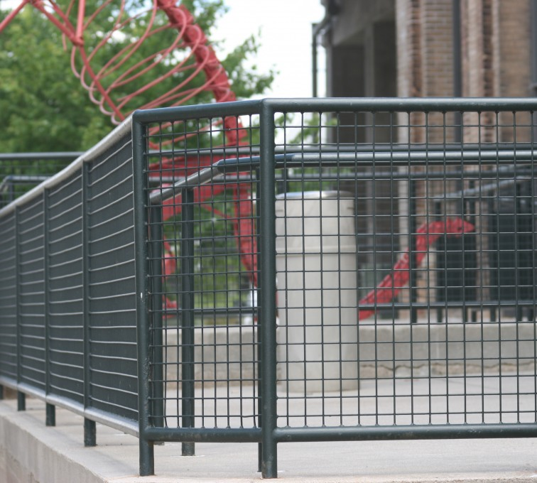 AFC Sioux City - Custom Railing with heavy mesh infill