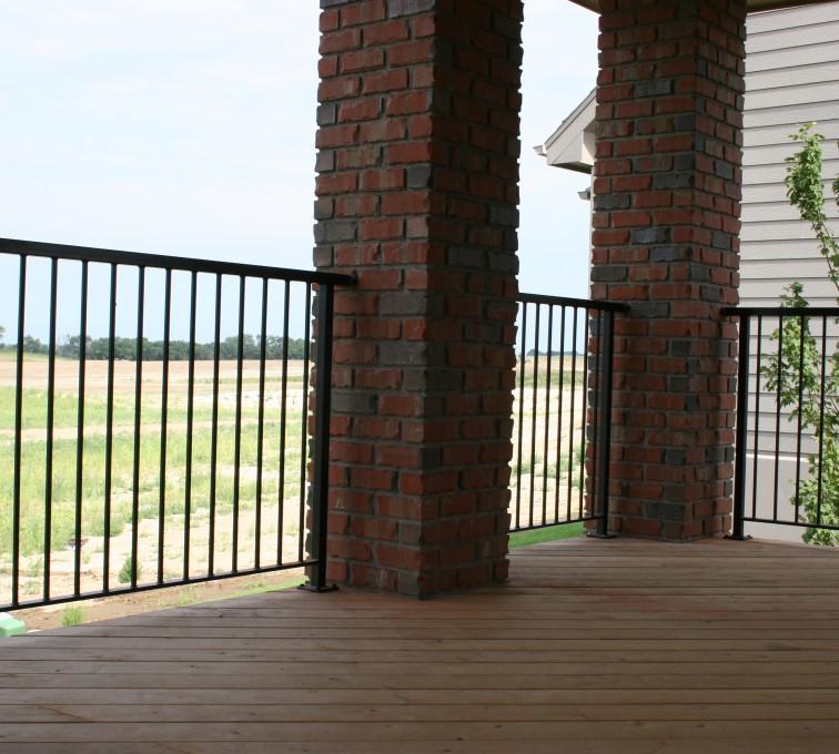 AFC Sioux City - Custom Ornamental Deck Railing