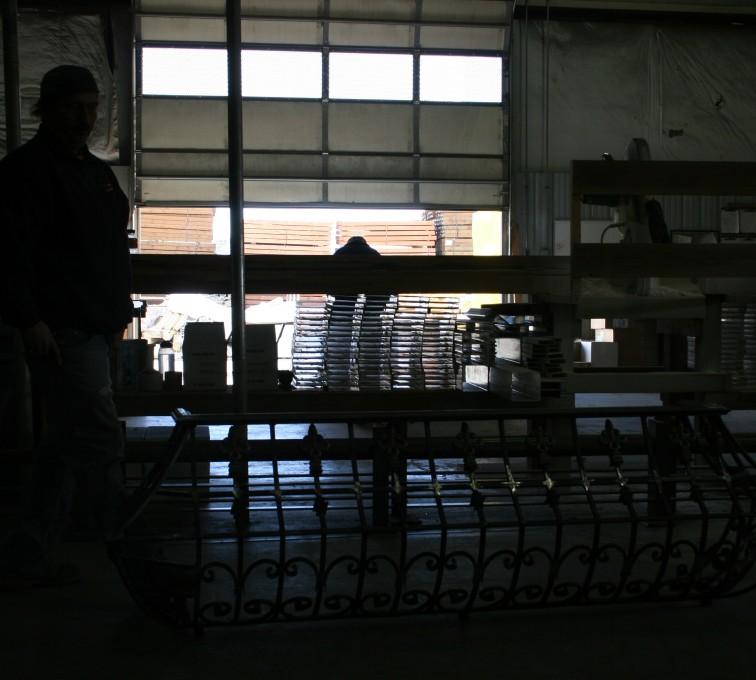AFC Sioux City - Custom Balcony Railing in Fabrication