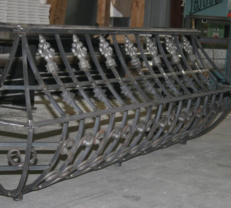 AFC Sioux City - Ornamental Custom Railing being Fabricated