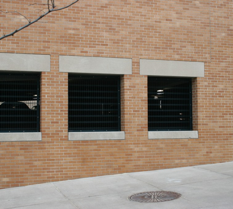 AFC Sioux City - Custom wire grating for parking garage windows