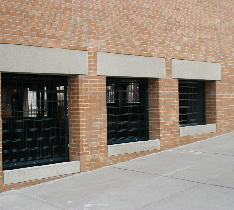 AFC Sioux City - Custom Window Screen for Parking Garage