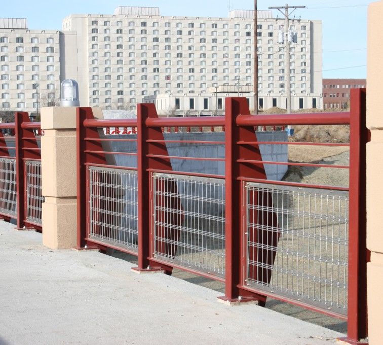 AFC Sioux City - Custom Stainless Railing with In-fill