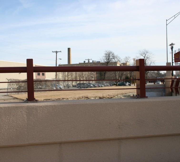 AFC Sioux City - Custom Knee Wall Railing