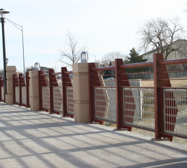AFC Sioux City - Custom Railing with Stainless Steel In-fill