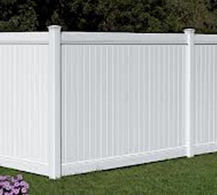 AFC Sioux City - 6' White Privacy PVC Fencing