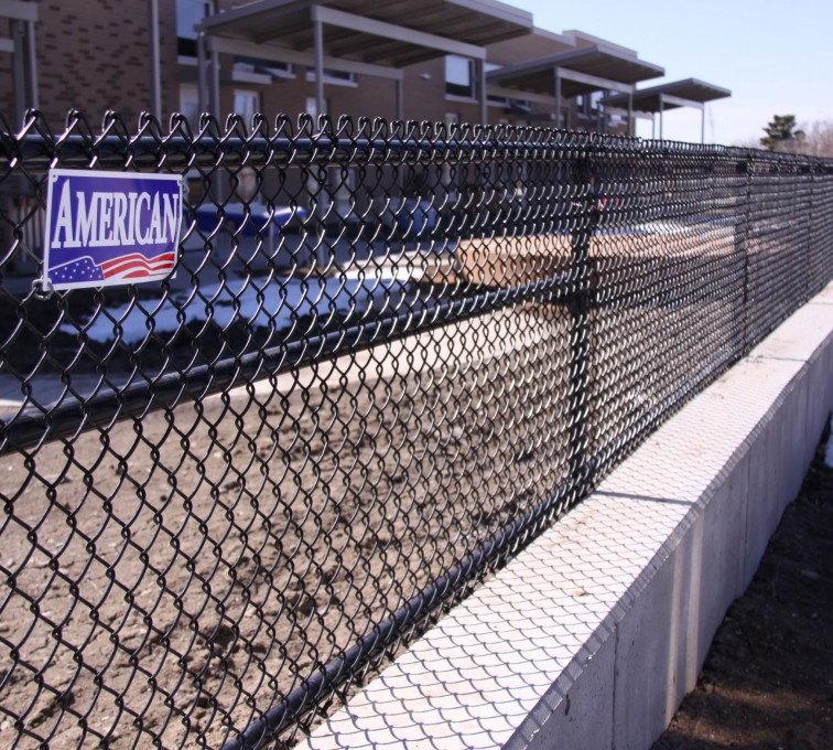 AFC Sioux City - Four foot tall black chain link fence