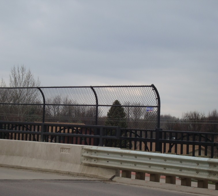 AFC Sioux City - Black Vinyl Chainlink Pedestrian Canopy