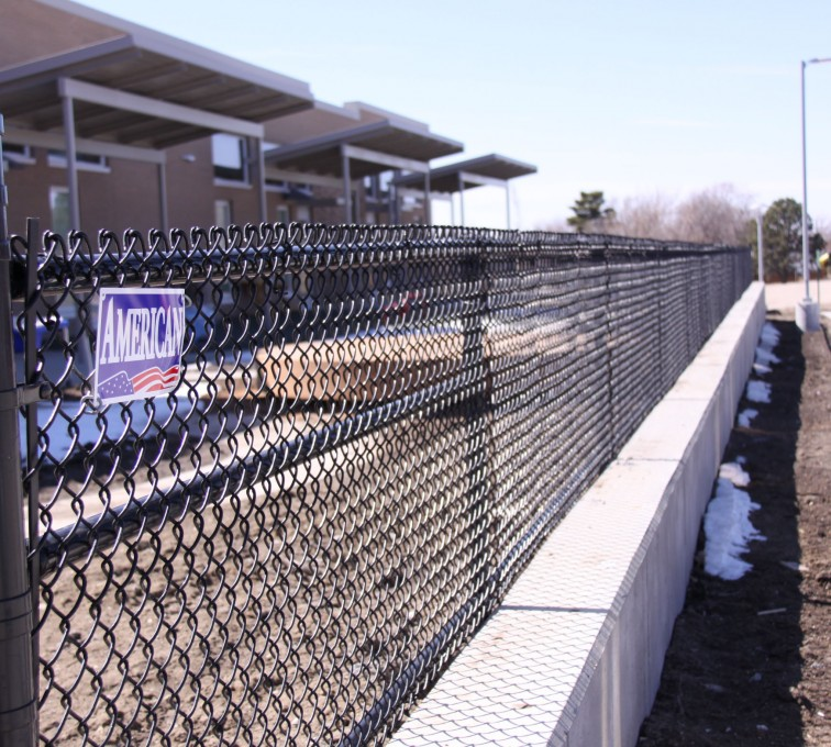AFC Sioux City - Black Vinyl Coated Chain Link Track Fence
