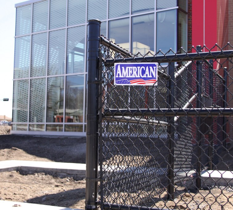 AFC Sioux City - Chain link fence with black vinyl coating