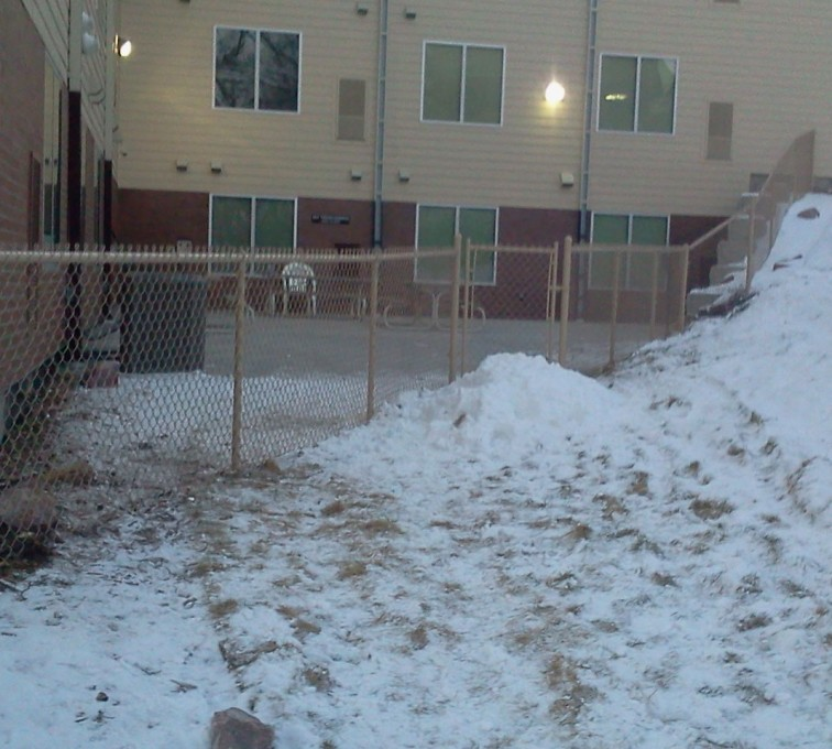 AFC Sioux City - Brown vinyl chain link fencing