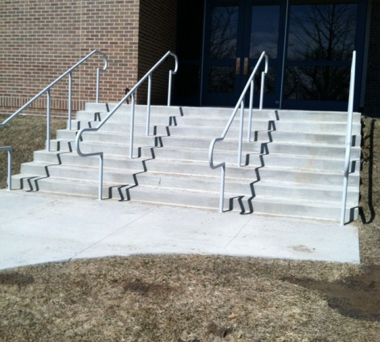 AFC Sioux City - Stairs with custom galvanized hand rails