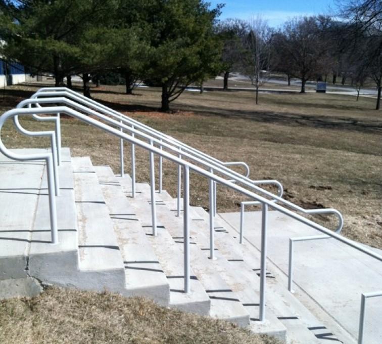 AFC Sioux City - Galvanized Custom Hand Railing