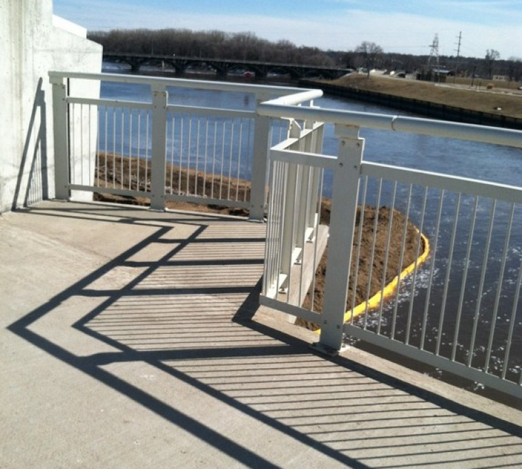 AFC Sioux City - Custom Ornamental Railing with Round Top Rail