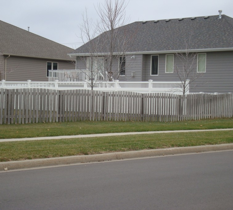 AFC Sioux City - Wood Fencing, Cedar Picket Over Scallop AFC, SD