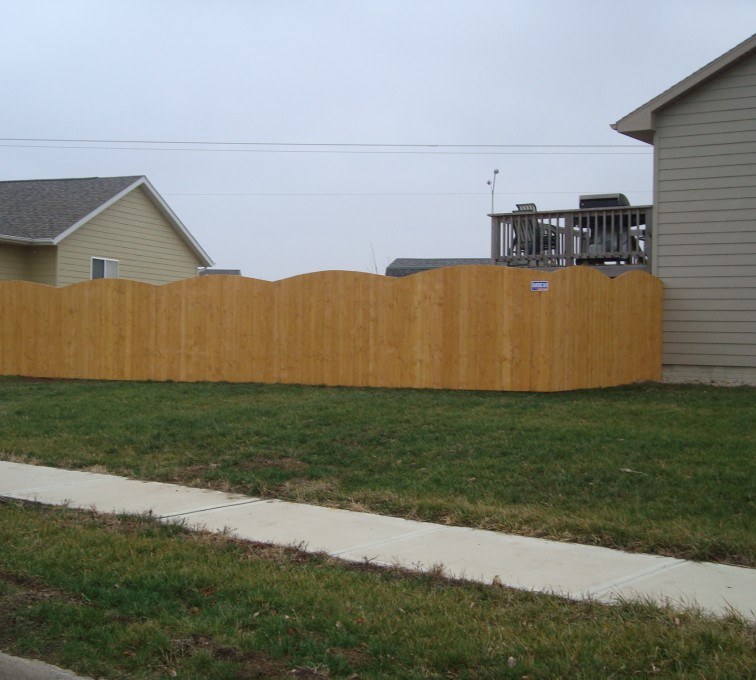 AFC Sioux City - Wood Fencing, Cedar Privacy Over Scallop AFC, SD