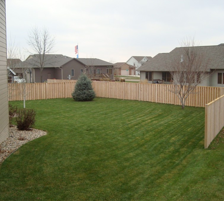 Wood Shadow Box American Fence Company Sioux City