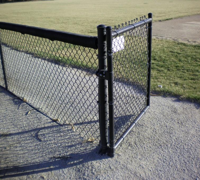 AFC Sioux City - Black Vinyl Cyclone Fencing
