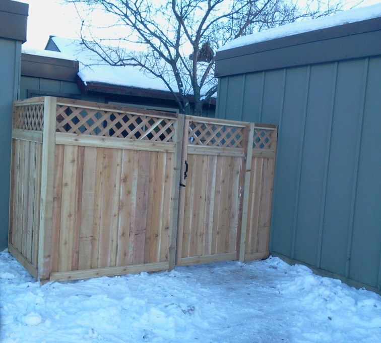 AFC Sioux City - Wood Fencing, Custom Wood Privacy with Lattice AFC, SD