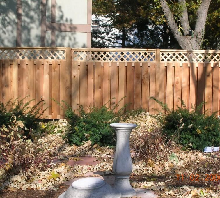 AFC Sioux City - Wood Fencing, Custom with lattice