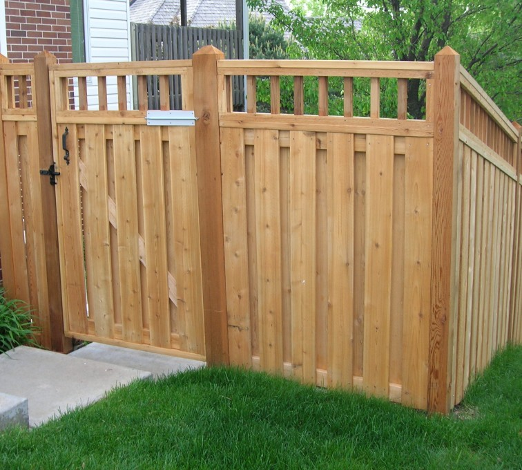 AFC Sioux City - Wood Fencing, Custom with wood picket accent