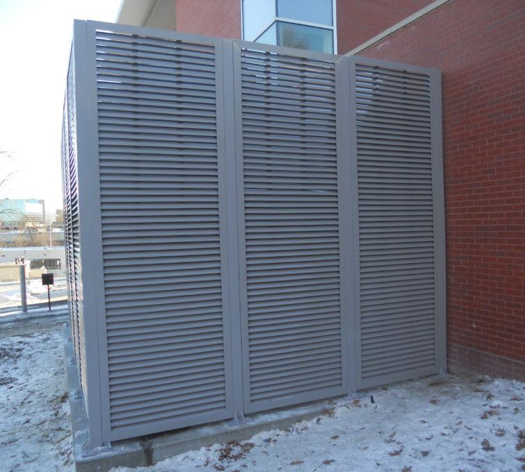 AFC Sioux City - Horizontal aluminum louvered panels