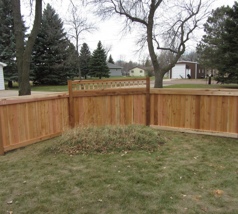 AFC Sioux City - Wood Fencing, Decorative Cedar Privacy with Picket Accent AFC, SD