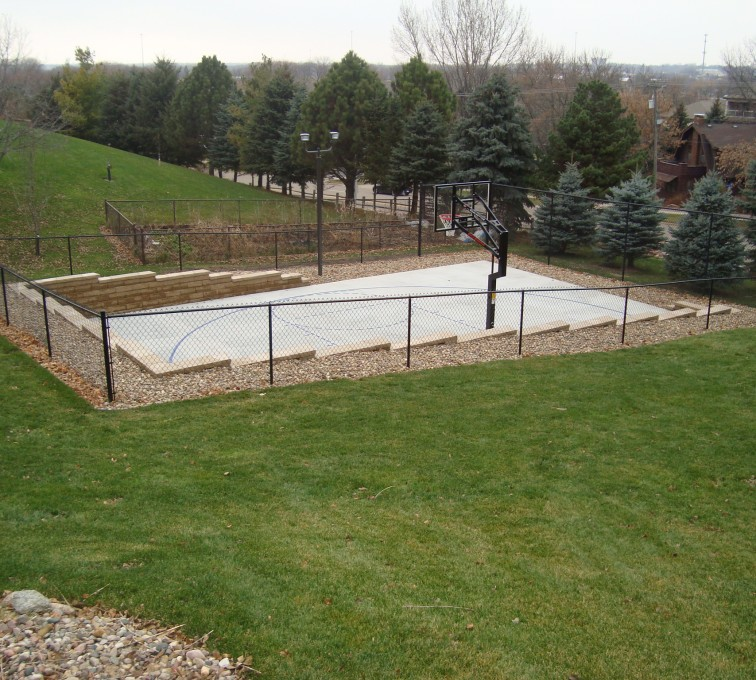 AFC Sioux City - Basketball court chain link fence