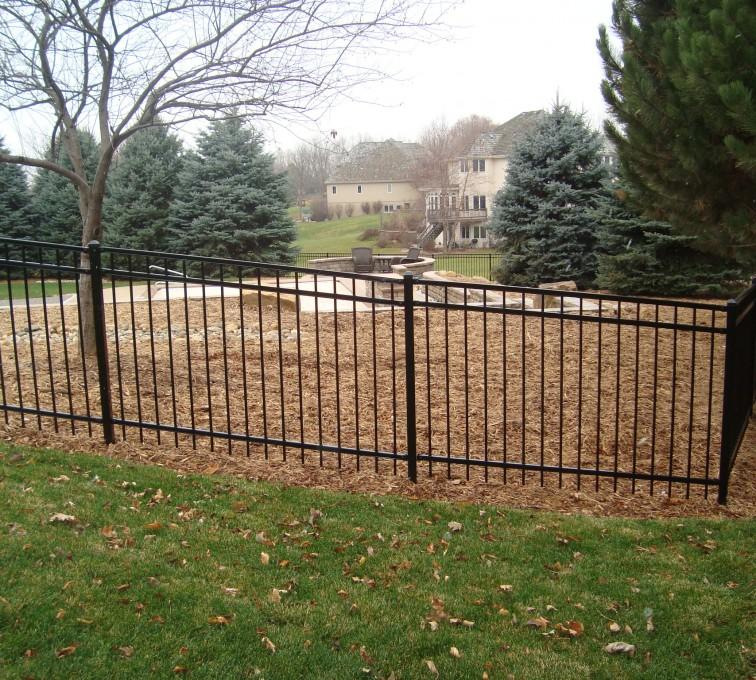 AFC Sioux City - Black ornamental flat top fence