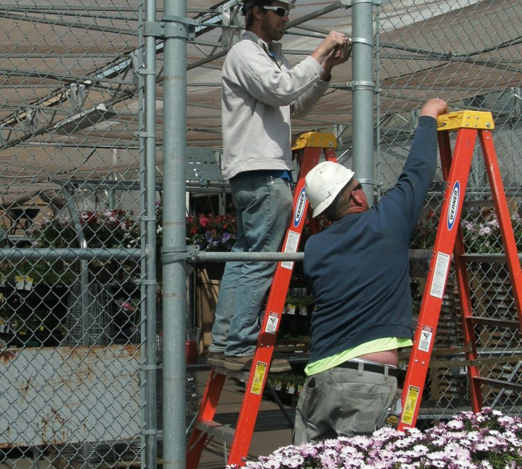 AFC Sioux City - Installation of commercial chain link