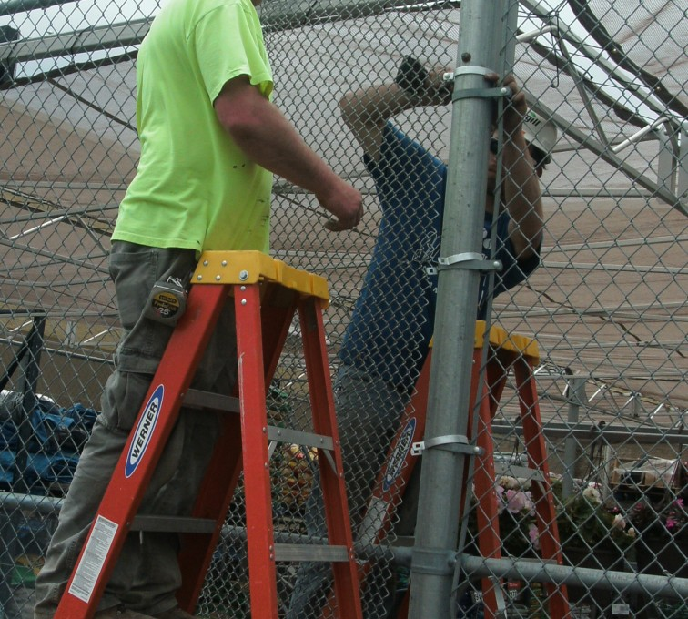 AFC Sioux City - Plant nursery chain link installation