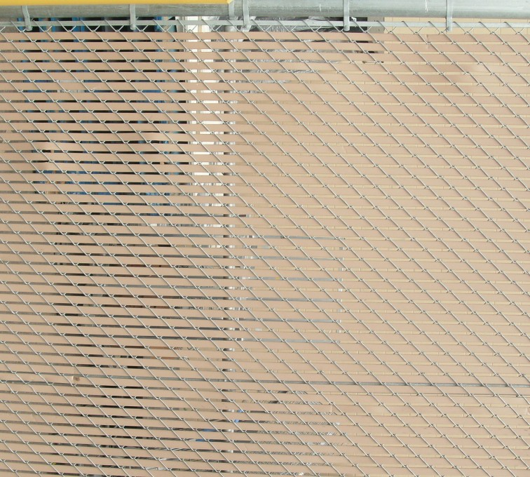AFC Sioux City - Chain link fence with privacy slats